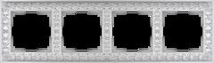 Рамка на 4 поста (жемчужный) WL07-Frame-04 Werkel