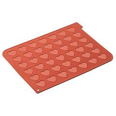 Форма для приготовления печенья Macaron Heart 30 х 40 см силиконовая Silikomart 23.043.00.0065