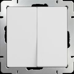 Выключатель двухклавишный проходной (белый) WL01-SW-2G-2W Werkel