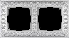 Рамка на 2 поста (жемчужный) WL07-Frame-02 Werkel
