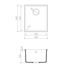 Кухонная мойка из искусственного гранита (Tetogranit) OMOIKIRI Bosen 38-U-PL (4993230)