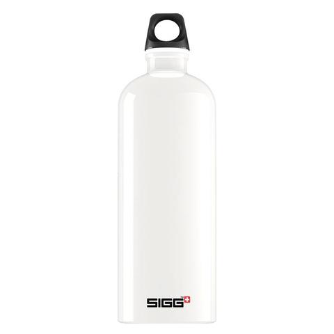 Бутылка для воды Sigg Traveller, белая (красная эмблема), 1L