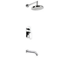 А13020 Встраиваемый комплект для ванны с изливом и верхней душевой насадкой WasserKRAFT