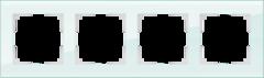 Рамка на 4 поста (натуральное стекло) WL01-Frame-04 Werkel