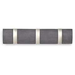 Вешалка настенная горизонтальная Flip 3 крючка дерево/никель Umbra 318853-1143
