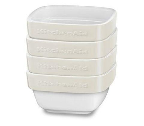 Набор из 4 керамических мини чаш для запекания KitchenAid KBLR04RMAC
