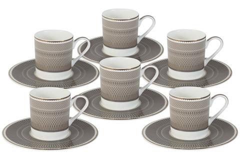 Кофейный набор Мокко: 6 чашек + 6 блюдец 48529