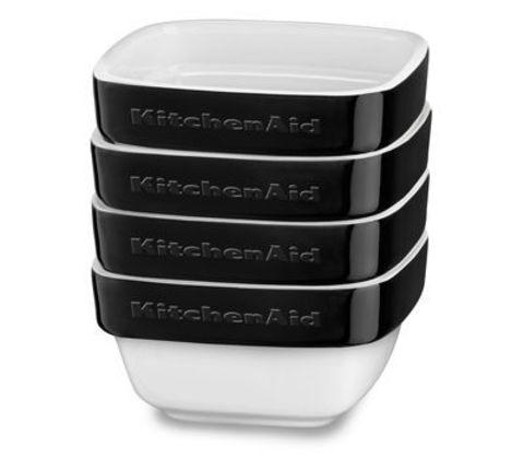 Набор из 4 керамических мини чаш для запекания KitchenAid KBLR04RMOB