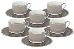Чайный набор Мокко: 6 чашек + 6 блюдец 48528