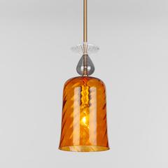 Подвесной светильник со стеклянным плафоном Eurosvet Dream 50194/1 янтарный