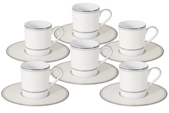 Кофейный набор Жемчуг: 6 чашек + 6 блюдец 48519