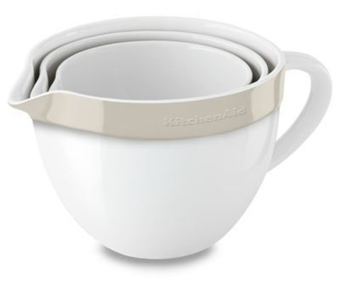 Набор из 3 керамических чаш для запекания/смешивания KitchenAid KBLR03NBAC