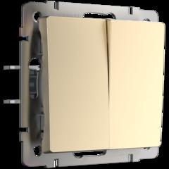 Выключатель двухклавишный проходной (шампань) WL11-SW-2G-2W Werkel