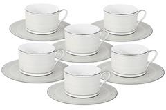 Чайный набор Жемчуг : 6 чашек + 6 блюдец 48518