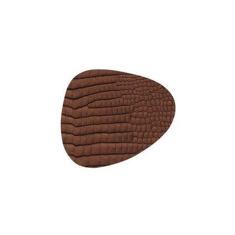Подстаканник фигурный 11x13 см, толщина 2мм Croco cognac LindDNA-9883