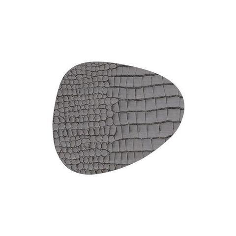 Подстаканник фигурный 11x13 см, толщина 2мм Croco silver-black LindDNA-9885