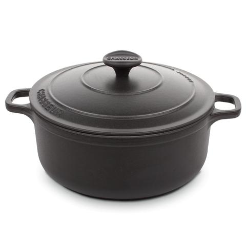 Кастрюля чугунная 22 см (3,1л) CHASSEUR Black (цвет: чёрный) арт. 3722