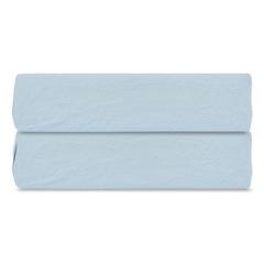Простыня на резинке небесно-голубого цвета из органического стираного хлопка из коллекции Essential, 180х200 см Tkano TK20-FSI0011