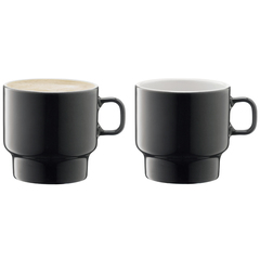 Набор из 2 чашек для флэт-уайт кофе Utility 280 мл серый LSA International P276-10-523