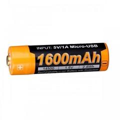 Аккумулятор 14500 Fenix ARB-L14 1600U mAh с разъемом для USB* ARB-L14-1600U