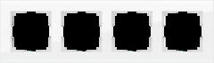 Рамка на 4 поста (белый, стекло) WL01-Frame-04 Werkel