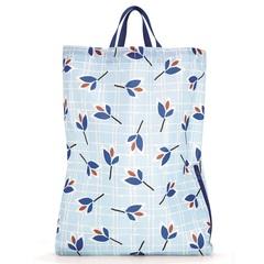 Рюкзак складной Mini maxi sacpack leaves blue Reisenthel AU4064