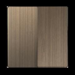 Набор клавиш для выключателя двухклавишного (бронзовый) WL12-SW-2G-CP Werkel