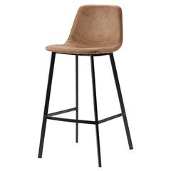 Стул барный Berg Hugh, экокожа, светло-коричневый BEST-HUMF07