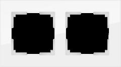 Рамка на 2 поста (белый,стекло) WL01-Frame-02 Werkel