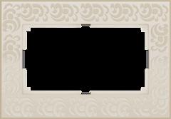 Рамка для двойной розетки (слоновая кость) WL05-Frame-01-DBL-ivory Werkel