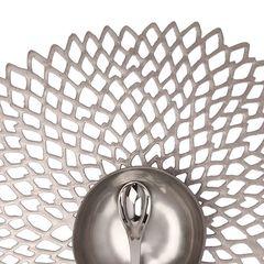 Салфетка подстановочная, винил, (36х39) Gunmetal (100142-002) CHILEWICH Pressed dahlia арт. 0403-DAHL-GUNM