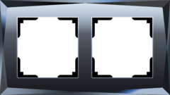 Рамка на 2 поста  (черный) WL08-Frame-02 Werkel