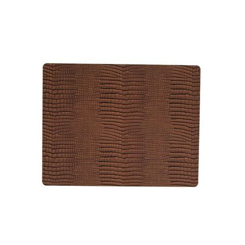 Подстановочная салфетка прямоугольная 35x45 см, толщина 2мм Croco cognac LindDNA-98325