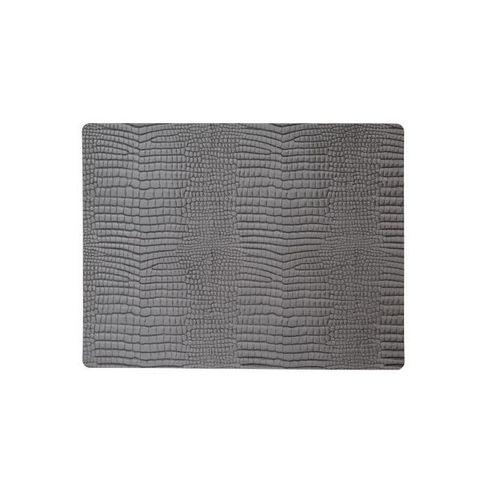 Подстановочная салфетка прямоугольная 35x45 см, толщина 2мм Croco silver-black LindDNA-98327