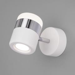 Настенный светодиодный светильник Eurosvet Oskar 20165/1 LED хром/белый