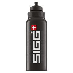 Бутылка для воды Sigg WMB Gnature, черная, 1L 8626.30
