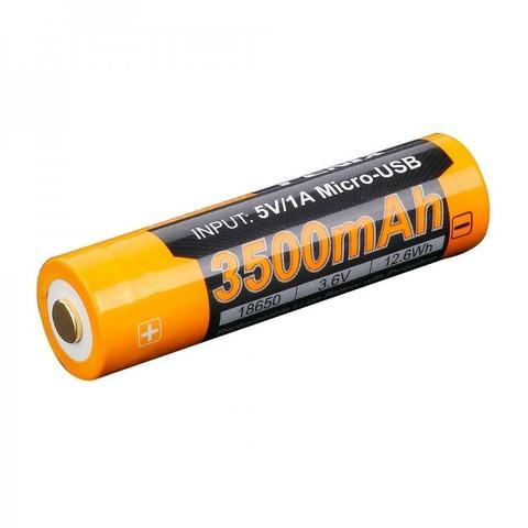 Аккумулятор 18650 Fenix ARB-L18 3500U mAh с разъемом для USB*