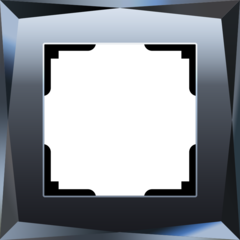 Рамка на 1 пост (черный) WL08-Frame-01 Werkel