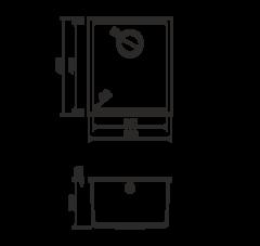 Кухонная мойка из искусственного гранита (Tetogranit) OMOIKIRI Bosen 38-U-SA (4993159)