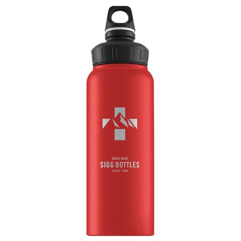 Бутылка для воды Sigg WMB Mountain, красная, 1L