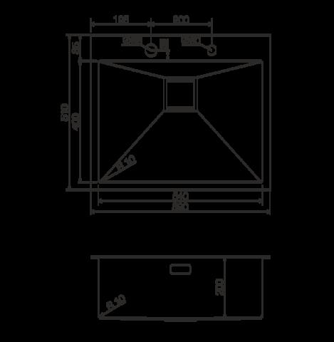 Кухонная мойка из нержавеющей стали OMOIKIRI Akisame 59-GM (4993096)