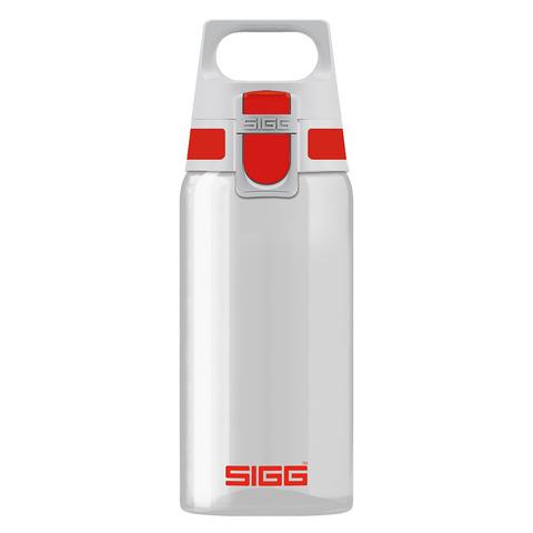 Бутылка для воды Sigg Total Clear One, бело-красная, 0,5L