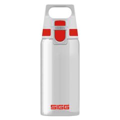 Бутылка для воды Sigg Total Clear One, бело-красная, 0,5L 8692.70