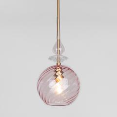 Подвесной светильник со стеклянным плафоном Eurosvet Dream 50192/1 розовый