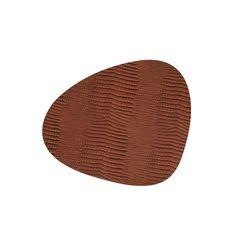 Подстановочная салфетка фигурная 37x44 см, толщина 2мм Croco cognac LindDNA-98285