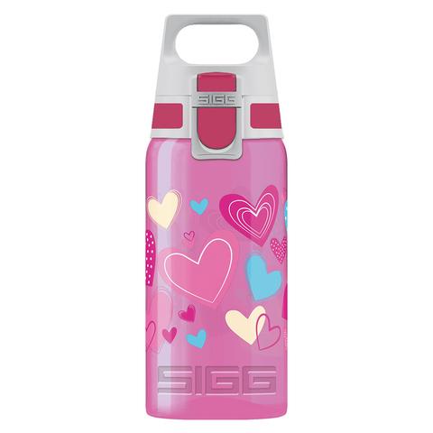 Бутылка для воды Sigg Viva One Hearts, розовая, 0,5L