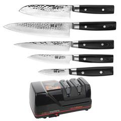 Комплект из 5 ножей (37 слоев) YAXELL Zen и электрической точилки Chef's Choice