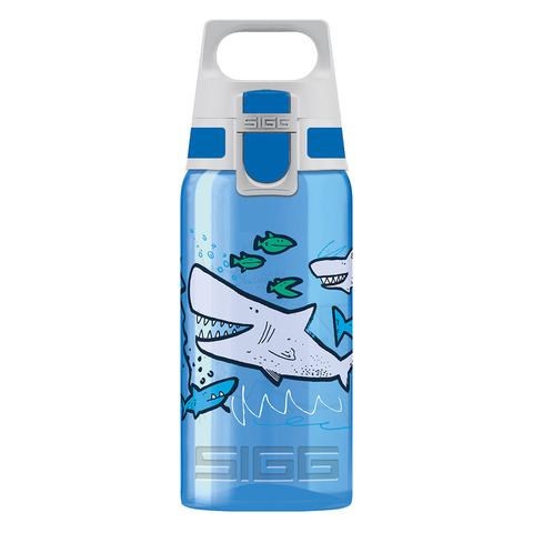 Бутылка для воды Sigg Viva One Sharkies, голубая, 0,5L