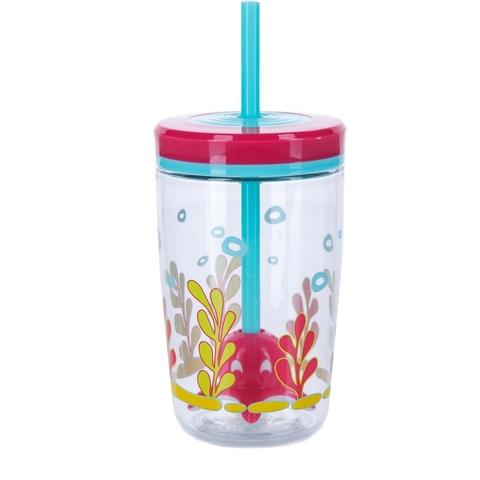 Детский стакан для воды с трубочкой Contigo Floating Straw Tumbler (0.47 литра), розовый