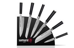 Набор из 6 кухонных стальных ножей и магнитной подставки Samura Mo-V 84746379